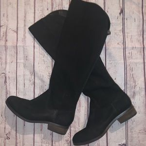 Heeled Black Boot Sole Society Sz 7 Leather